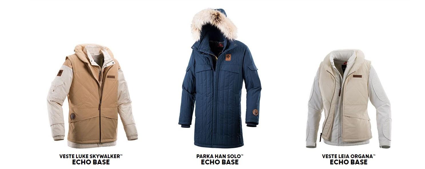 Columbia Sportswear, 3 manteaux en édition limitée Star Wars : L'Empire Contre Attaque