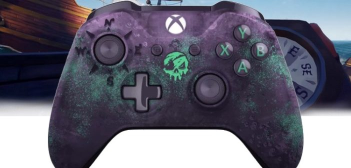 Microsoft dévoile une superbe manette Xbox One, Sea of Thieves_une