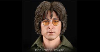 John Lennon une nouvelle figurine ultra fine signée Molecule8