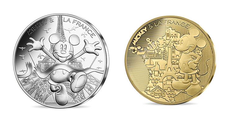 Disney: Mickey à l'honneur sur les pièces de la Monnaie de Paris