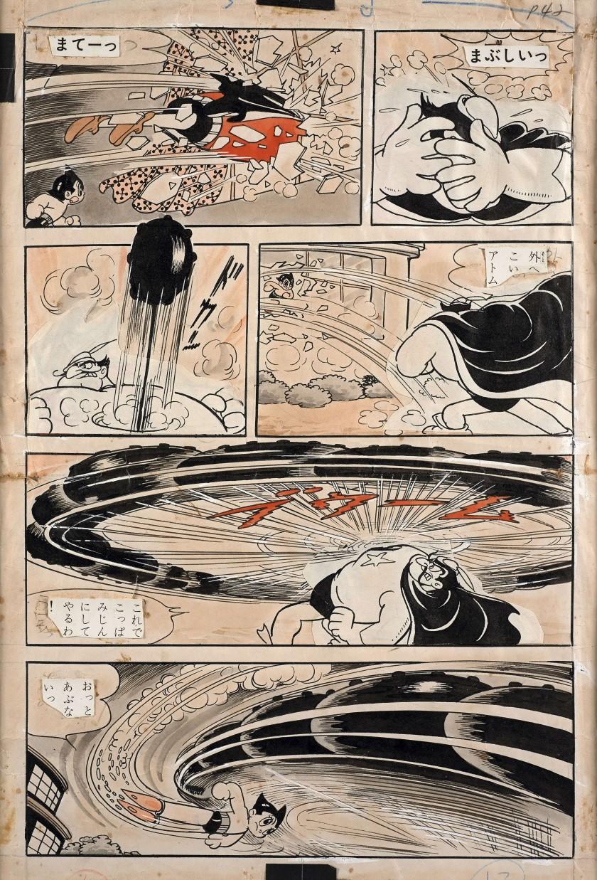 Une planche du manga Astro Boy aux enchères !