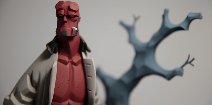Hellboy la figurine tirée du comics de Mike Mignola !