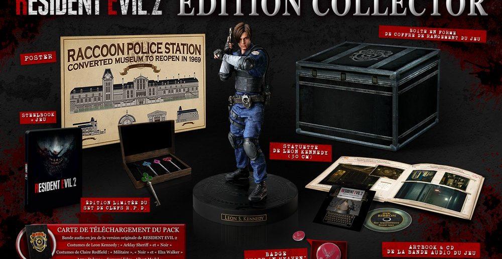 Resident Evil 2 une édition limitée collector ultra complète !