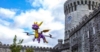 Un drone Spyro le Dragon, cracheur de feu !