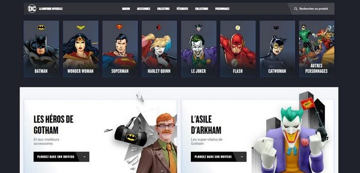 Warner Bros. lance la première boutique en ligne française spéciale DC Comics !