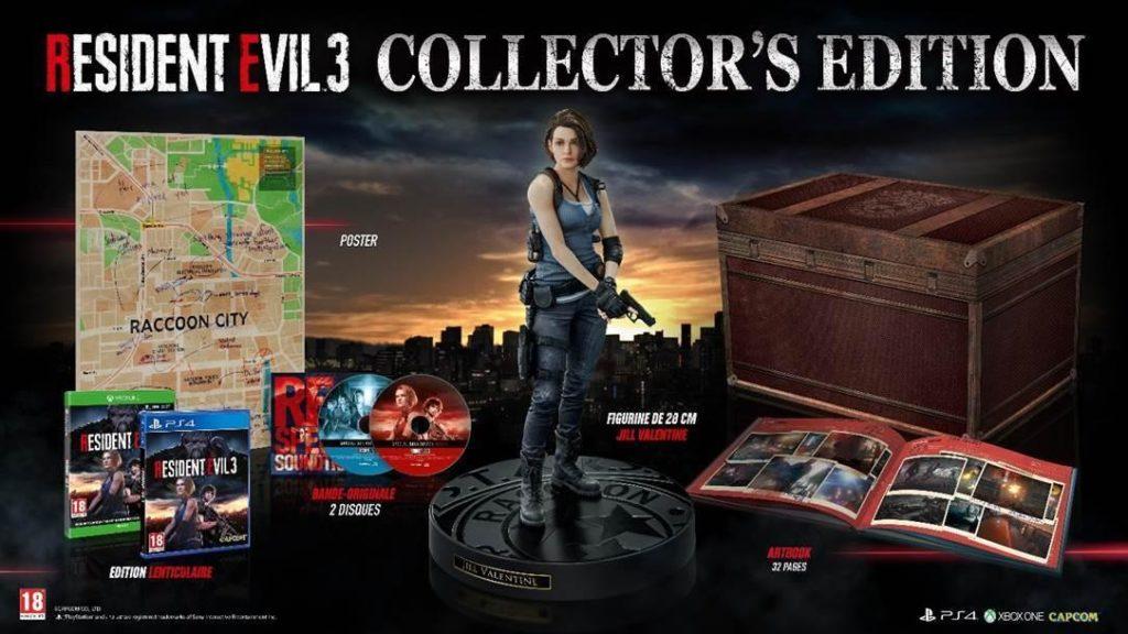 Resident Evil 3 la France aura aussi le droit à l'édition collector pack collector