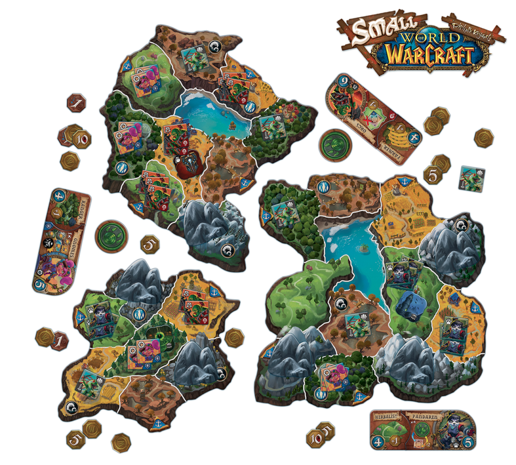 Small World of Warcraft, le jeu de plateau