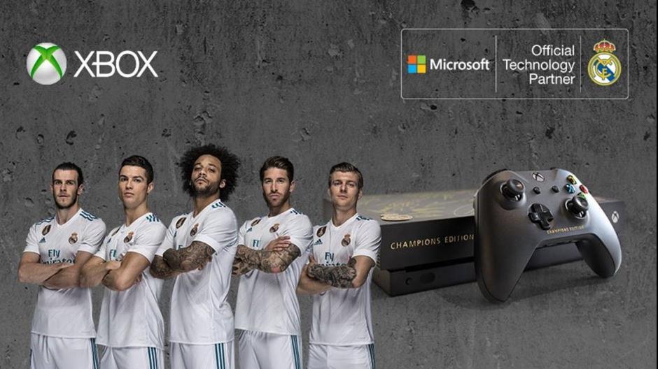 La Xbox One X aux couleurs du Real Madrid