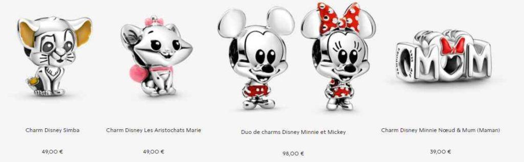 Pandora ajoute huit nouveaux bijoux charms Princesses Disney